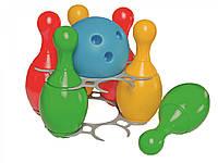 Набор для игры в боулинг 2 ТехноК кегли и шар MiC игрушки для мальчика девочки детские развивающие