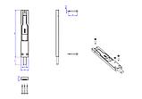 Шпингалет дверной FAPIM TITANTRE 3722А 140 мм черный, фото 2