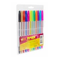 Ручка кулькова кольорова  TK-52305 (набір 12кол.) (25/36/144/300) (ТІКІ)