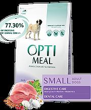 Корм Optimeal Dog Adult Small для взрослых собак с уткой, 4 кг