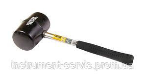 Киянка резиновая черная 75 мм 680 г металлическая рукоятка (Mastertool, 02-1303)