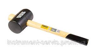 Киянка резиновая черная 55 мм 340 г рукоятка из дерева (Mastertool, 02-0301)