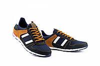 Мужские кроссовки текстильные летние синие-коричневые Splinter 3614, фото 1