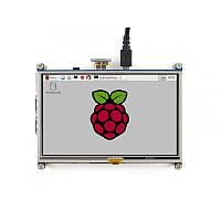 "TFT HDMI cенсорний дисплей 5"" 800×480 Raspberry Pi від WaveShare, фото 1"