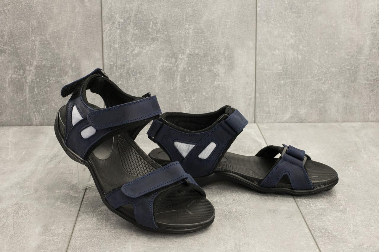 Мужские сандали кожаные летние синие Best Vak Л2-03
