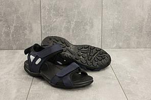 Мужские сандали кожаные летние синие Best Vak Л2-03, фото 2