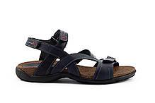 Мужские сандали кожаные летние синие StepWey 1072, фото 2