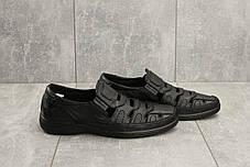 Мужские сандали кожаные летние черные Vankristi 1151, фото 3