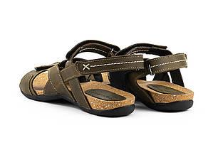 Подростковые босоножки кожаные летние оливковые StepWey Gamer 7561, фото 2