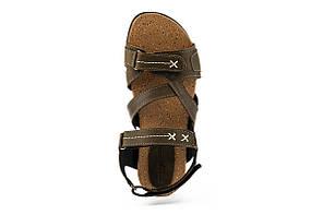 Подростковые босоножки кожаные летние оливковые StepWey Gamer 7561, фото 3