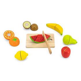 Игрушечные продукты Viga Toys Нарезанные фрукты из дерева (44539)