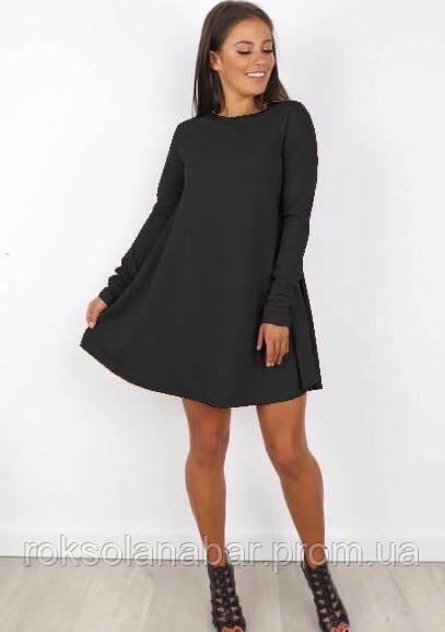 Платье свободного кроя черного цвета универсального размера 42-46
