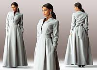 Женское платье в пол из габардина в расцветках Л874