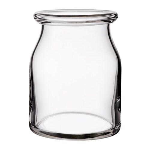 ИКЕА (IKEA) БЕГЭРЛИГ, 103.097.77, Ваза, прозрачное стекло, 18 см - ТОП ПРОДАЖ
