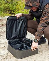 Чехол жесткий Fisher под 4 катушки до от 10000 до 16 000 (шпуля) 39*39*14, фото 3
