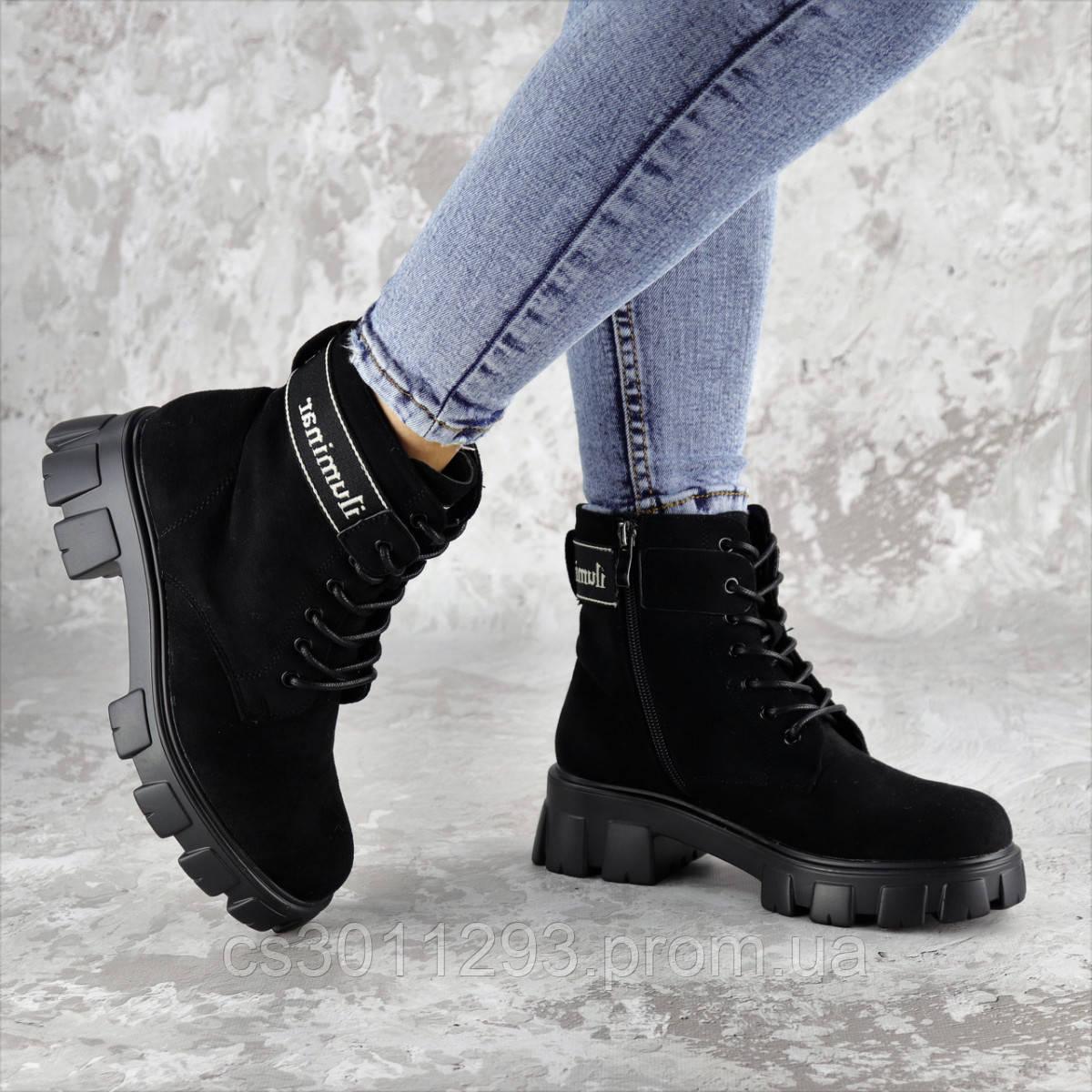 Ботинки женские Fashion Gouda 2260 36 размер 23,5 см Черный