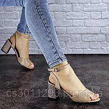 Женские босоножки Fashion Zoe 1808 39 размер 24,5 см Бежевый, фото 3
