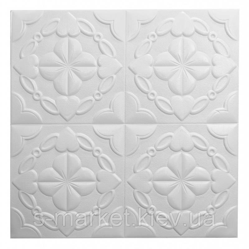 Самоклеюча декоративна стельова 3D панель 700х700х9мм