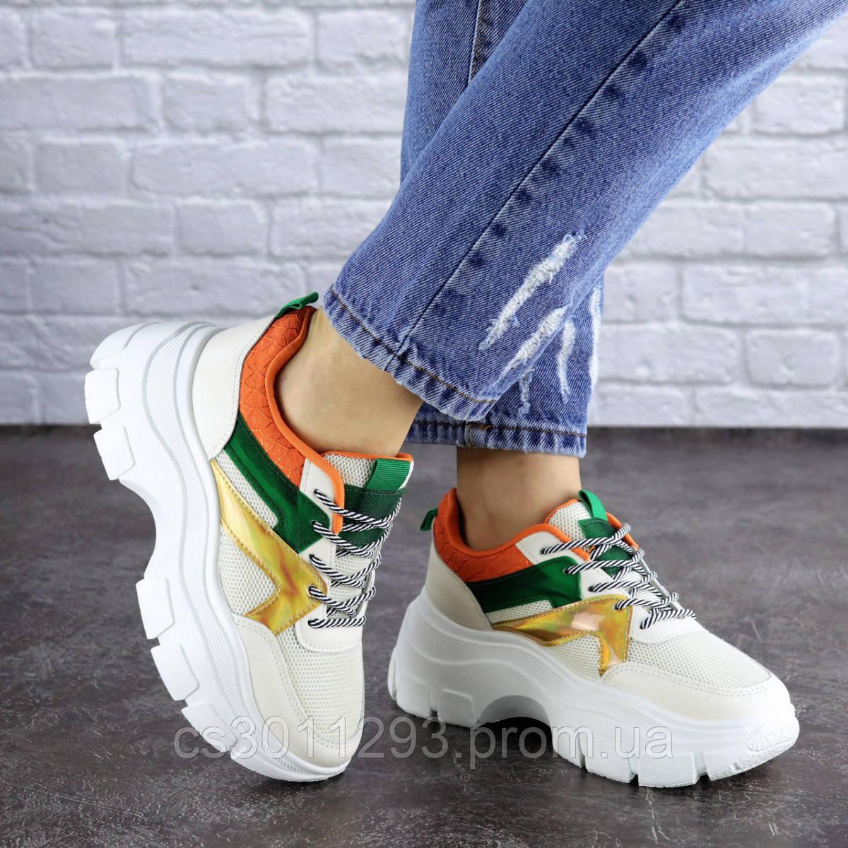 Женские кроссовки Fashion Jeter 1753 36 размер 22,5 см Бежевый