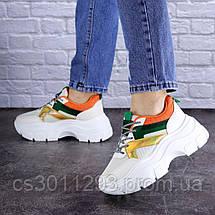 Женские кроссовки Fashion Jeter 1753 36 размер 22,5 см Бежевый, фото 3