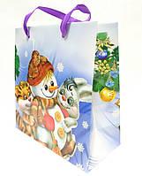 """Новогодний подарочный пакет """"Снеговик"""" , фото 1"""