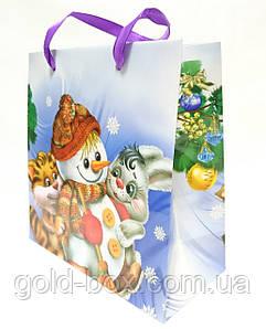 """Новогодний подарочный пакет """"Снеговик"""""""