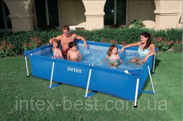 Бассейн каркасный Rectangular Frame Pool Intex 58981 (28272) (200х300х75 см. )