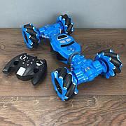 Трюковая машинка багги перевертыш YL41 вездеход на радиоуправлении 30 см double sided синий