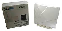Квант-Эфир ARU-01 White - комнатная ТВ антенна, ДМВ, с усилителем