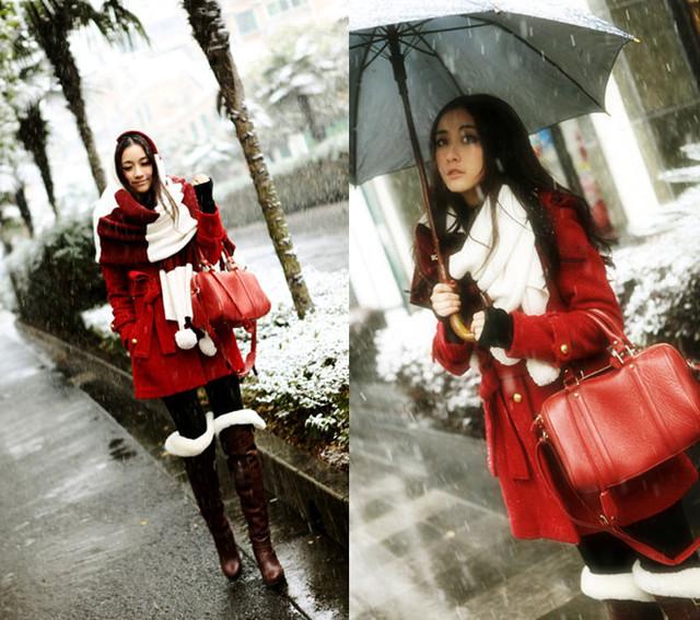 Девушка с сумкой Hot Cat   Red