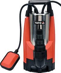 Насос для грязной воды сетевой 1100 Вт, 14 м / Ч, макс.висота- 10 м, макс.глубина- 7 м YATO YT-85343
