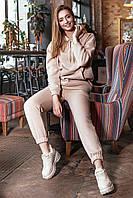 ✔️ Теплый женский костюм на флисе 42-48 размеры бежевый