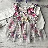Нарядное платье с повязкой на девочку 269. Размер 56 см, 62 см, 68 см, фото 3