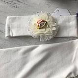 Нарядное платье с повязкой на девочку 269. Размер 56 см, 62 см, 68 см, фото 4