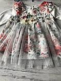 Нарядное платье с повязкой на девочку 270. Размер 56 см, 62 см, 68 см, 74 см, фото 5