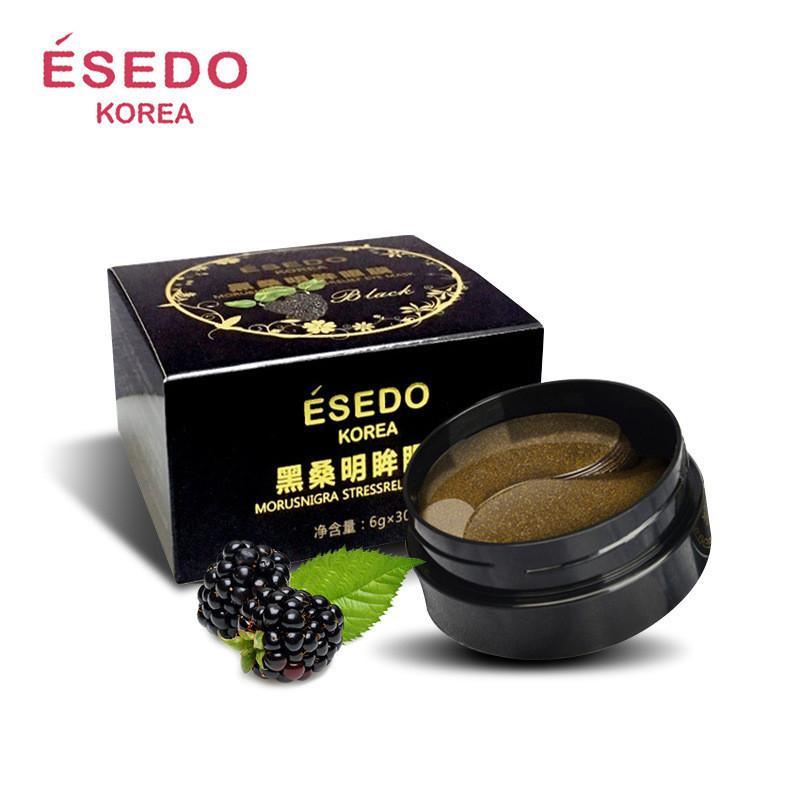 Гідрогелеві патчі з екстрактом чорної шовковиці Esedo Korea Morusnigra Stressrelief Eye Mask Black, 60шт
