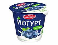 """Белорусский йогурт Черника """"Моя Славита"""" 140 гр"""