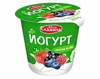 """Белорусский йогурт Лесная ягода """"Моя Славита"""" 140 гр"""