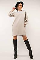 ✔️ Стильное повседневное велюровое платье Сабина 44-52 размеры молочное и темно-синее