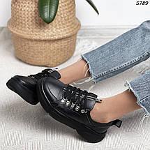 Черные кроссовки женские кожаные, фото 2