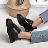 Черные кроссовки женские кожаные, фото 5