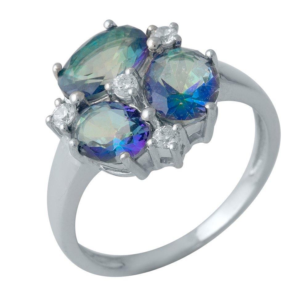 Серебряное кольцо pSilverAlex с натуральным мистик топазом 2.637ct (1990254) 18 размер