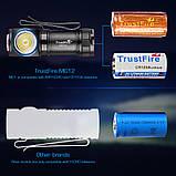 Налобный ручной фонарь с магнитной зарядкой TRUSTFIRE MC12 1000LM+Аккумулятор (круче Skilhunt H04RC), фото 5