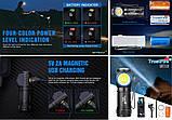 Налобный ручной фонарь с магнитной зарядкой TRUSTFIRE MC12 1000LM+Аккумулятор (круче Skilhunt H04RC), фото 8