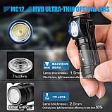 Налобный ручной фонарь с магнитной зарядкой TRUSTFIRE MC12 1000LM+Аккумулятор (круче Skilhunt H04RC), фото 4