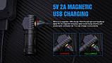 Налобный ручной фонарь с магнитной зарядкой TRUSTFIRE MC12 1000LM+Аккумулятор (круче Skilhunt H04RC), фото 10