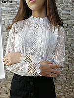 Шикарная ажурная женская блузка 9422 ВК, фото 1