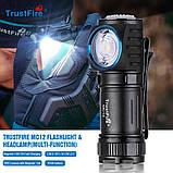 Налобный ручной фонарь с магнитной зарядкой TRUSTFIRE MC12 1000LM+Аккумулятор (круче Skilhunt H04RC), фото 3