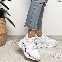 Белые кроссовки женские натуральная кожа, фото 2
