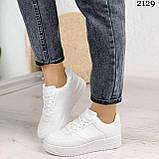Женские кроссовки белые эко-кожа, фото 8